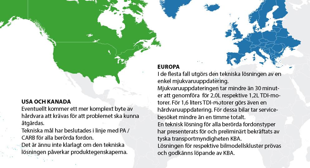 Karta Europa Pa Svenska.Skillnader I Dieselfragan Mellan Sverige Europa Och Usa Och Kanada